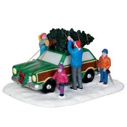 Scène Transport du sapin de Noël Lemax Vaill Village