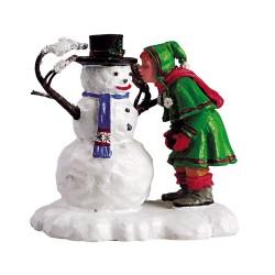 Lemax figurine Enfant et bonhomme de nei