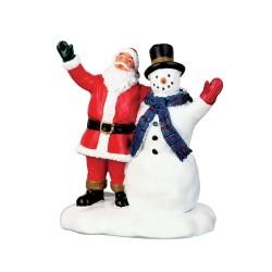 Lemax figurine Père Noël et bonhomme de
