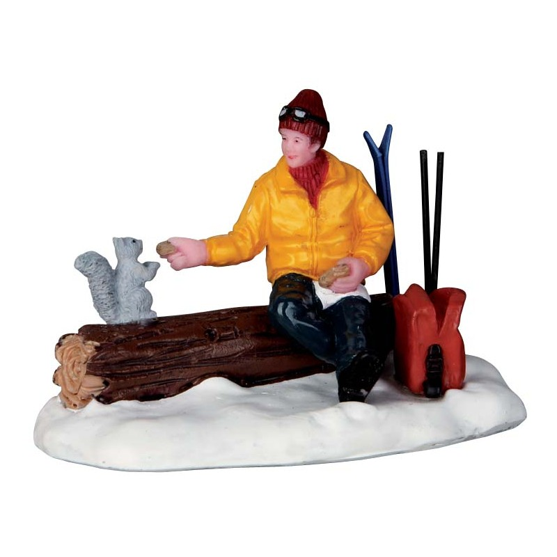 skieur et cureuil lemax vail village la magie des automates. Black Bedroom Furniture Sets. Home Design Ideas