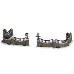 Lemax Stone Wall, Set Of 6