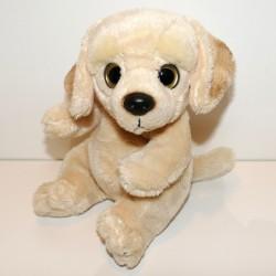 Peluche chien labrador beige 18 cm