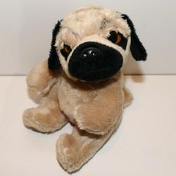 Peluche chien bulldog 18 cm