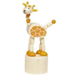 Figurine articulée en bois girafe 12 cm