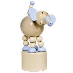 Figurine articulée en bois éléphant 12 cm