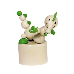 Figurine articulée en bois crocodile 12 cm