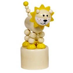Figurine articulée en bois lion 12 cm