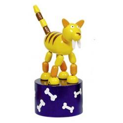 Figurine articulée en bois Tigre 11 cm