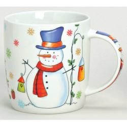 Tasse Noël Bonhomme de neige porcelaine 30 cl