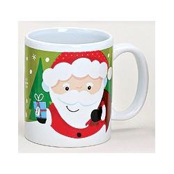 Tasse Père Noël vert céramique 30 cl