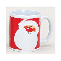 Tasse Père Noël rouge céramique 30 cl