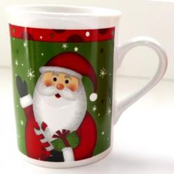 Tasse Père Noël vert rouge céramique 20 cl