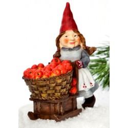 Figurine Mère Noël résine 12 cm