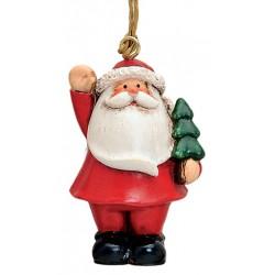 Suspension sapin Père Noël résine 7 cm