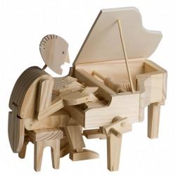 Automate en bois pianiste en kit 20 cm