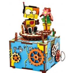 Boîte à musique puzzle 3D en bois mécanismes 12,5 cm