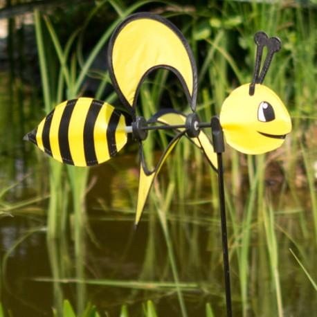 Girouette éolienne abeille jaune 85 cm