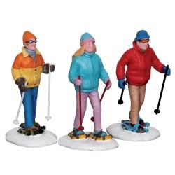 Marcheurs en raquettes à neige Lemax Vail Village