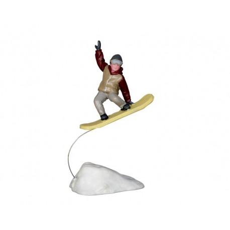 Saut en snowboard Lemax Vail Village