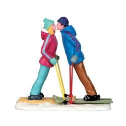 Figurine Amoureux à ski Lemax Vail Village
