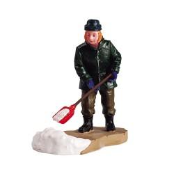Figurine Homme qui déneige Lemax Vail Village