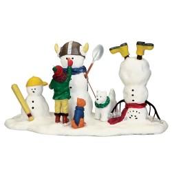 Scène Bonhommes de neige pour jouer Lemax Vail Village