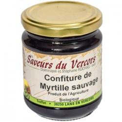 Confiture de myrtille sauvage Bio 220 g