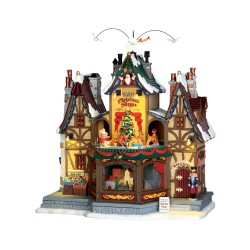 Lemax Caddington Holiday Hamlet Christmas Shoppe avec adaptateur 4.5v