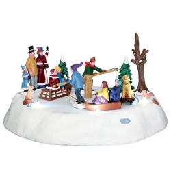 Lemax Caddington Victorian Ice Merry Go Round à piles