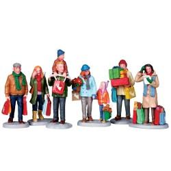 Lemax figurine Acheteurs de Noël