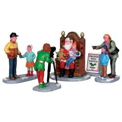Lemax figurine Photos avec le Père Noël