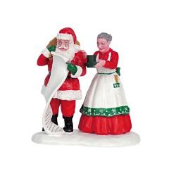 Père Noël et Mère Noël Lemax Santas Wonderland