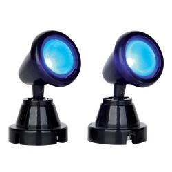 Spot rond lumière bleue lot de 2 Lemax