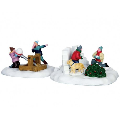 Lemax Vail Village Snowball Surprise, Set Of 2