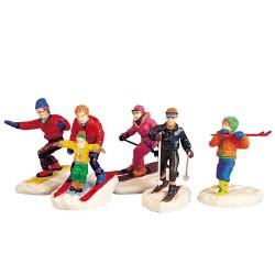 Lemax Winter Fun Figurines, Set Of 5