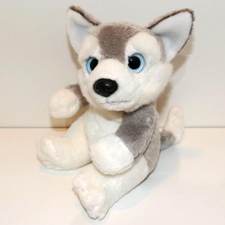 Peluche chien husky 18 cm
