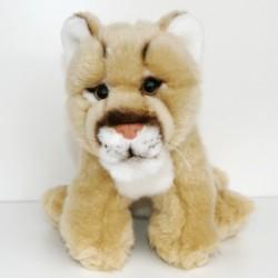 Peluche lionne beige 23 cm
