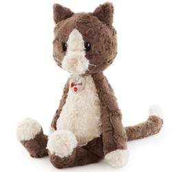 Peluche chat marron 45 cm