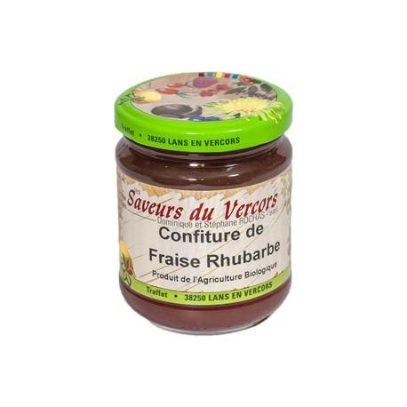 Confiture de Fraise Rhubarbe Bio 220 g