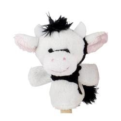 Marionnette à doigt en peluche vache 8 cm