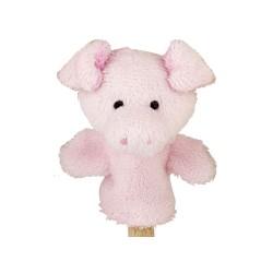 Marionnette à doigt en peluche cochon 8 cm