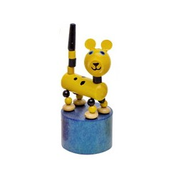 Figurine articulée animal en bois léopard 10 cm