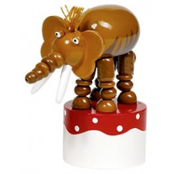 Figurine articulée en bois Mammouth 11 cm