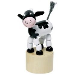Figurine articulée vache en bois 11 cm