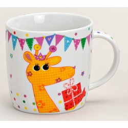 Tasse girafe orange porcelaine 30 cl