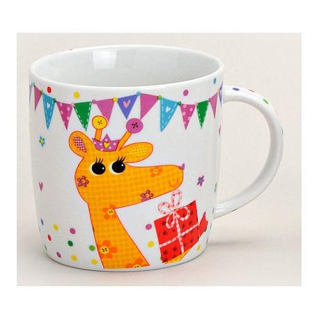 Tasse girafe orange porcelaine 30 cl