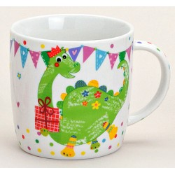Tasse dinosaure vert porcelaine 30 cl