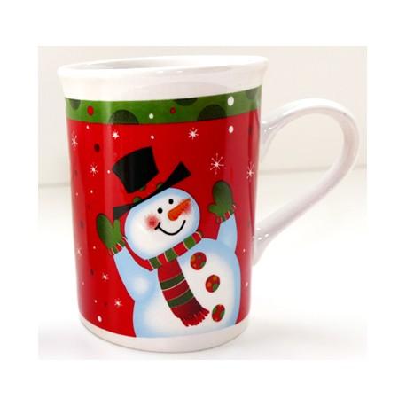 tasse no l bonhomme de neige vert rouge c ramique 20 cl la magie des automates. Black Bedroom Furniture Sets. Home Design Ideas