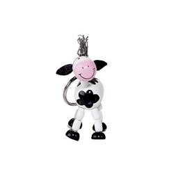 Porte-clés articulé en bois vache 5 cm