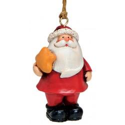 Suspension sapin Père Noël étoile résine 7 cm